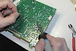 Soldering on printed circuit...