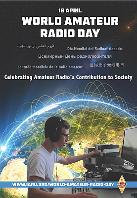 Affiche World Amateur Radio Day
