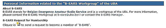 Become a member of B-EARS (link to)